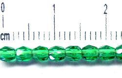 Best.Nr.:27174 facettierte Glasperlen smaragdgrün, hergestellt in Gablonz / Tschechien