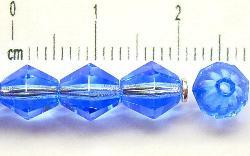 Best.Nr.:27187 facettierte Glasperlen biconen  blau