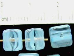 Best.Nr.:49094 Glasperlen Würfel hellblau, hergestellt in Gablonz / Tschechien