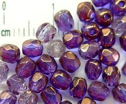 Best.Nr.:28079 facettierte Glasperlen violett bronziert (Mix verschiedener Töne), hergestellt in Gablonz / Tschechien