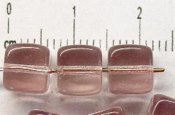 Best.Nr.:49097 Glasperlen Würfel french violett, hergestellt in Gablonz / Tschechien