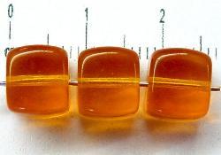 Best.Nr.:49105 Glasperlen Würfel topas transp., hergestellt in Gablonz / Tschechien