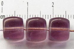 Best.Nr.:49100 Glasperlen Würfel  french violett transp., hergestellt in Gablonz / Tschechien