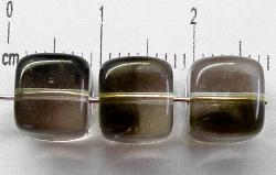 Best.Nr.:49089 Glasperlen Würfel rauch meliert, hergestellt in Gablonz / Tschechien