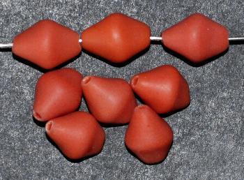 Best.Nr.:63679 Glasperlen Nuggets 1920/30 in Gablonz/Böhmen hergestellt, teracotta