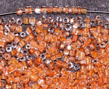 Best.Nr.: 62102 3-Cutbeads ca.1930 in Gablonz/Böhmen hergestellt kristall mit Farbeinzug teracotta