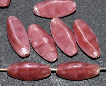 Best.Nr.:49309 Glasperlen dreieckiger Querschnitt Perlettglas altrosa
