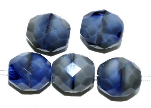 Best.Nr.:26036 facettierte Glasperlen blaugrau perlett, hergestellt in Gablonz / Tschechien