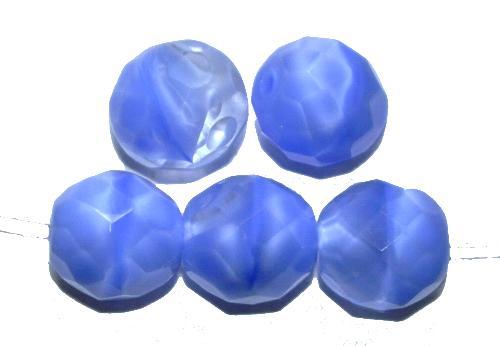 Best.Nr.:26094 facettierte Glasperlen Perlettglas hellblau kristall, hergestellt in Gablonz / Tschechien