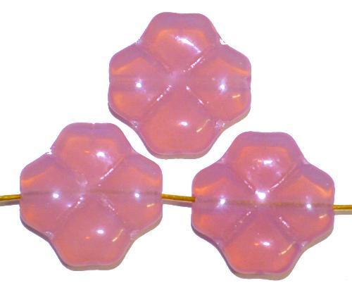 Best.Nr.:50006 GlasperlenBlüten Opalglas rosa, hergestellt in Gablonz / Tschechien