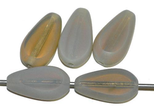 Best.Nr.:671203 Glasperlen / Table Cut Beads geschliffen, Opalglas silk, Rand mattiert (frostet), hergestellt in Gablonz / Tschechien