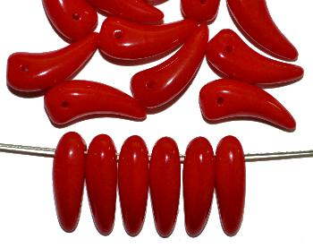 Best.Nr.:51128 Glasperlen Peperoni, rot opak