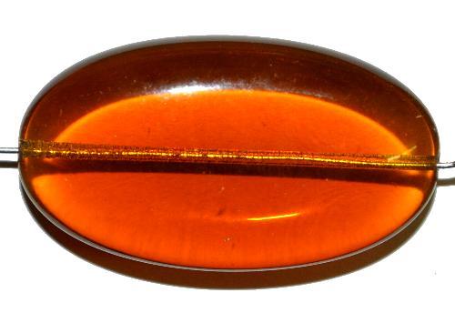Best.Nr.:s-0012 Glasperlen Olive flach  topas transp.,  hergestellt in Gablonz / Tschechien