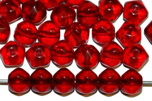 Best.Nr.:s-0013 Glasperlen granatrot transp., hergestellt in Gablonz Tschechien