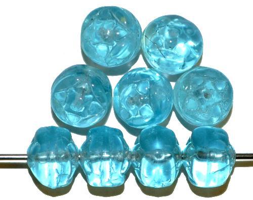 Best.Nr.:s-0040  Glasperlen, aqua transp.,  hergestellt in Gablonz Tschechien