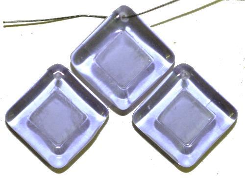 Best.Nr.:s-0086 Glasperlen Quadrate,  lila transp.,  hergestellt in Gablonz Tschechien