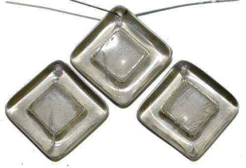 Best.Nr.:s-0091  Glasperlen Quadrate,  black diamond,  hergestellt in Gablonz Tschechien