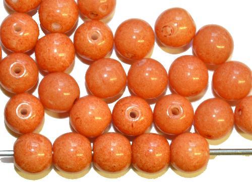 Best.Nr.:63587 Glasperlen in den 1950/60 Jahren in Gablonz/Böhmen hergestellt,  teracotta farben